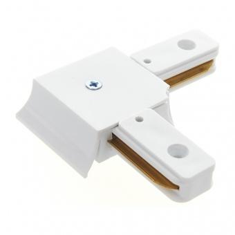 l-конектор, за монофазна трак шина за външен монтаж, бял, elbulgaria, 2086 wh