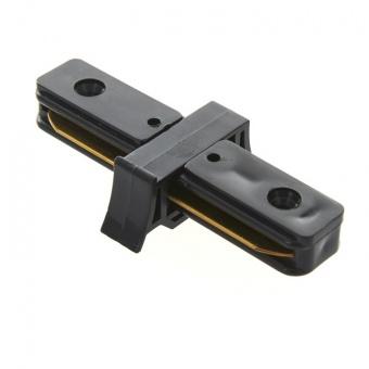 прав конектор, за монофазна трак шина за външен монтаж, черен, elbulgaria, 2087 bk
