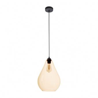 стъклен пендел, amber/black, tk lighting, fuente, 1x40w, 4322
