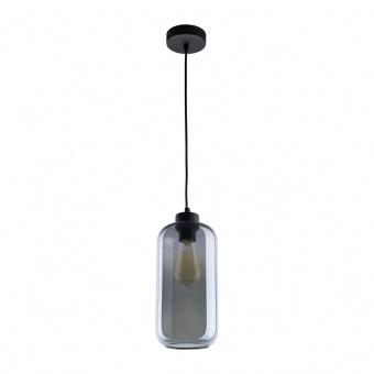 стъклен пендел, graphite/black, tk lighting, marco, 1x40w, 2077