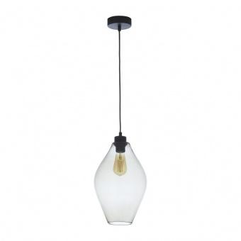 стъклен пендел, transparent/black, tk lighting, tulon, 1x40w, 4190
