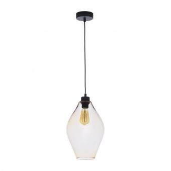 стъклен пендел, amber/black, tk lighting, tulon, 1x40w, 4191