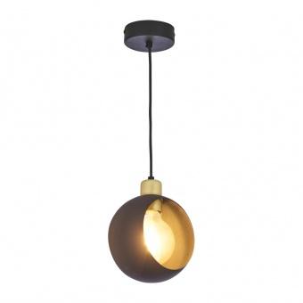 метален пендел, black+gold/black, tk lighting, cyklop black, 1x40w, 2751