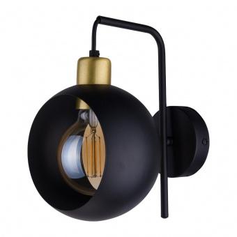 метален аплик, black+gold/black, tk lighting, cyklop black, 1x40w, 2750