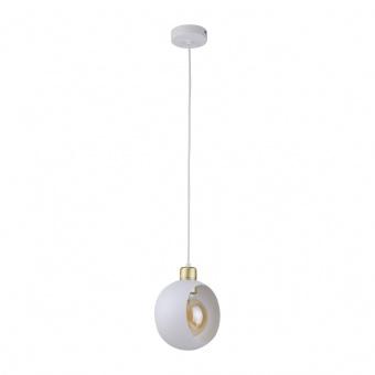 метален пендел, white+gold/white, tk lighting, cyklop white, 1x40w, 2741