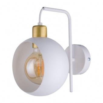 метален аплик, white+gold/white, tk lighting, cyklop white, 1x40w, 2740
