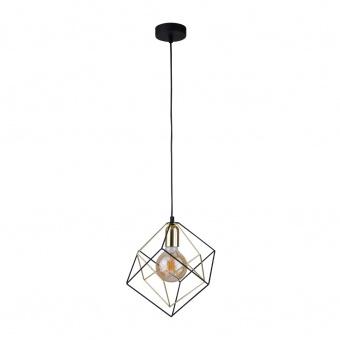 метален пендел, black+gold/black, tk lighting, alambre, 1x40w, 2777