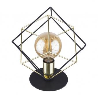 метална настолна лампа, black+gold/black, tk lighting, alambre, 1x40w, 5450