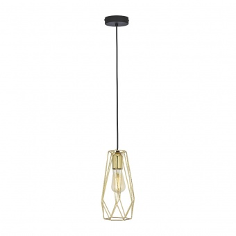 метален пендел, gold/black, tk lighting, lugo gold, 1x40w, 2696