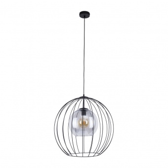 метален пендел, grafit/black, tk lighting, universo, 1x40w, 2552