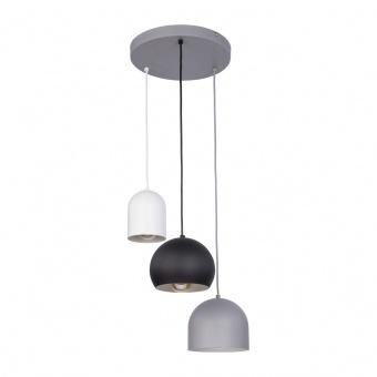 метален полилей, white+grey+black/grey, tk lighting, tempre, 3x40w, 2827