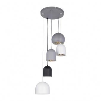 метален полилей, white+grey+black/grey, tk lighting, tempre, 5x40w, 2830