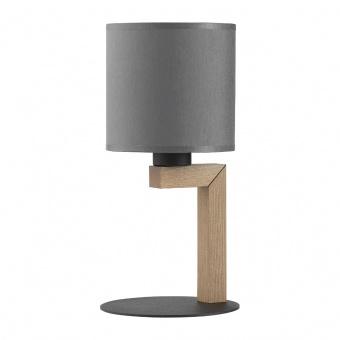 текстилна настолна лампа, graphite/natural, tk lighting, troy new, 1x40w, 5031