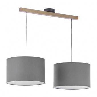 текстилен полилей, graphite/natural, tk lighting, troy new, 2x40w, 4220
