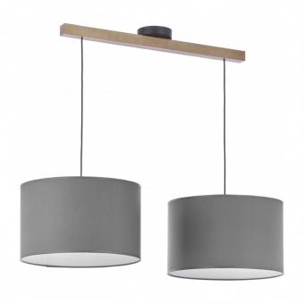 полилей troy grey, graphite/natural, 2xe27, tk lighting, 4220