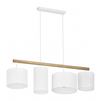 текстилен полилей, white/natural, tk lighting, deva white, 4x40w, 4106
