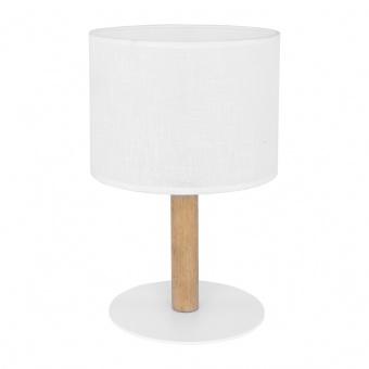 текстилна настолна лампа, white/natural, tk lighting, deva white, 1x40w, 5217