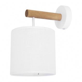 текстилен аплик, white/natural, tk lighting, deva white, 1x40w, 4108