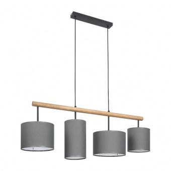 текстилен полилей, beton/natural, tk lighting, deva graphite, 4x40w, 4458