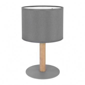 текстилна настолна лампа, beton/natural, tk lighting, deva graphite, 1x40w, 5219