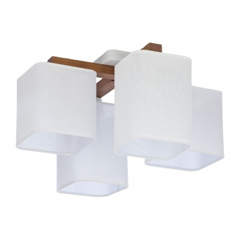 текстилен полилей, white/natural, tk lighting, tora white, 4x40w, 4163