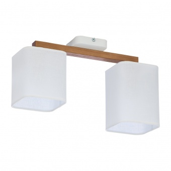 текстилен полилей, white/natural, tk lighting, tora white, 2x40w, 4162