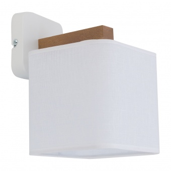 текстилен аплик, white/natural, tk lighting, tora white, 1x40w, 4161