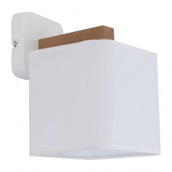 текстилен аплик, white/natural, tk lighting, tora white, 1x40w, 4161