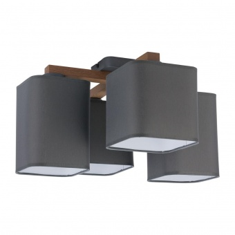 текстилен полилей, beton/natural, tk lighting, tora grey, 4x40w, 4166