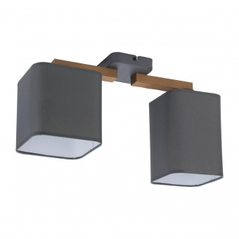 текстилен полилей, beton/natural, tk lighting, tora grey, 2x40w, 4165