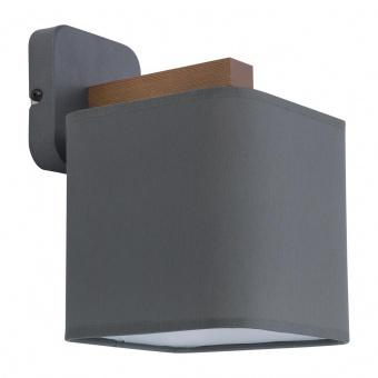 текстилен аплик, beton/natural, tk lighting, tora grey, 1x40w, 4164