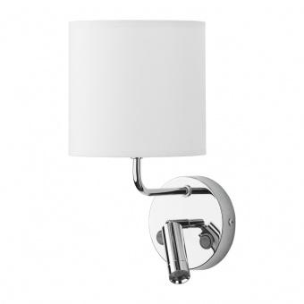 текстилен аплик, white/chrome, tk lighting, enzo, 1x40w+ led 3w, 4233