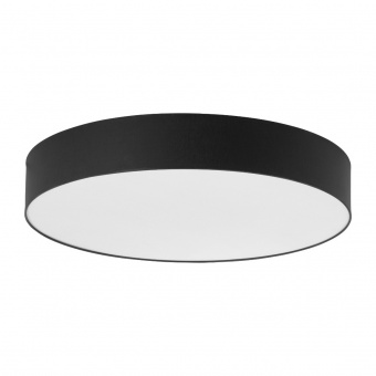 текстилен плафон, black/white, tk lighting, rondo, 6x40w, 4409
