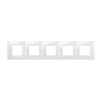 петорна рамка, бяла, schneider, unica basic, mgu2.010.18