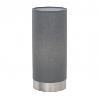 текстилна настолна лампа, grey, eglo, pasteri, 1x40w, 95119