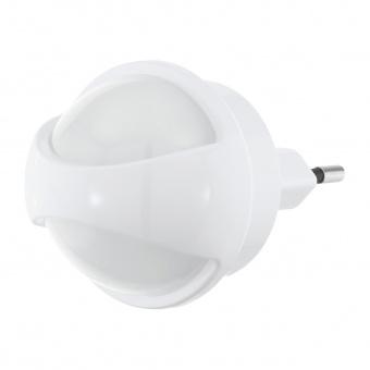 pvc нощна лампа, white, eglo, tineo, led 0.26w, 3000k, 3lm, 97933