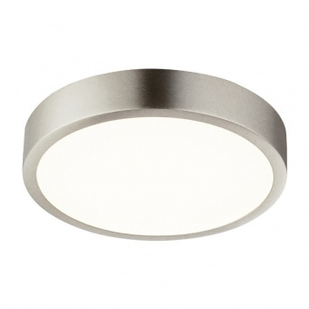 метален плафон, nickel matt, globo, vitos, led 15w, 4000k, 1350lm, 12366-15