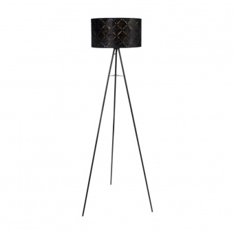 текстилен лампион, black, globo, sunna, 1x40w, 15334s