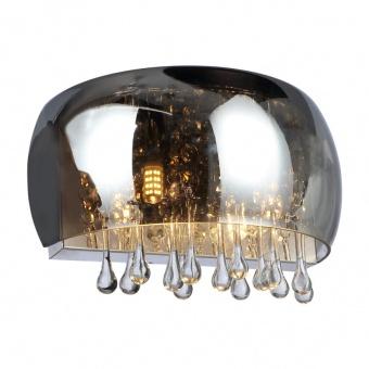 стъклен аплик, smokey, globo, kalla, 2x28ww, 15809w