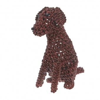 лампион от ратан куче, кафяв, elbulgaria, 1x25w, eli 84 dog m br