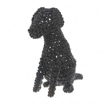 лампион от ратан куче, черен, elbulgaria, 1x25w, eli 85 dog m bk