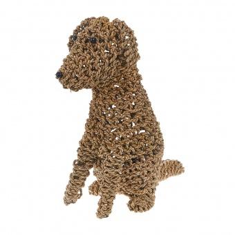 лампион от ратан куче, светло кафяв, elbulgaria, 1x25w, eli 86 dog m nat