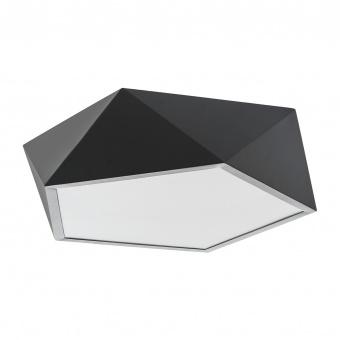 метален led плафон, черен, elbulgaria, led 36w, 4000k, 2035 bk