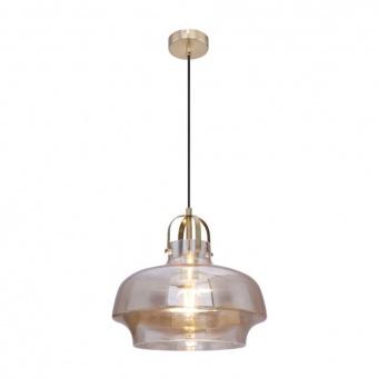 стъклен пендел, amber, globo, aegon, 1x60w, 15312a