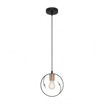 метален пендел, black, globo, stella, 1x60w, 15346-1