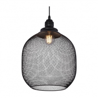 метален пендел, black, globo, anya, 1x60w, 15047h5