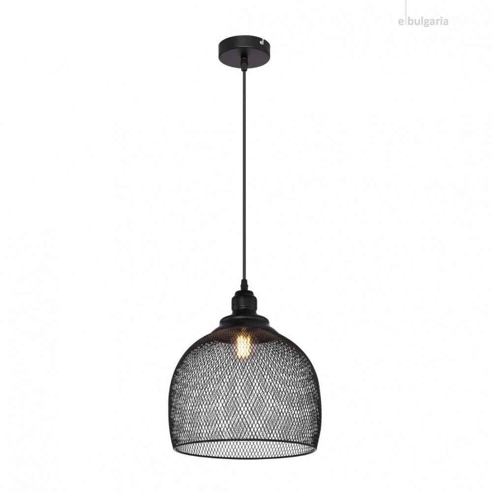 метален пендел, black, globo, anya, 1x60w, 15047h6