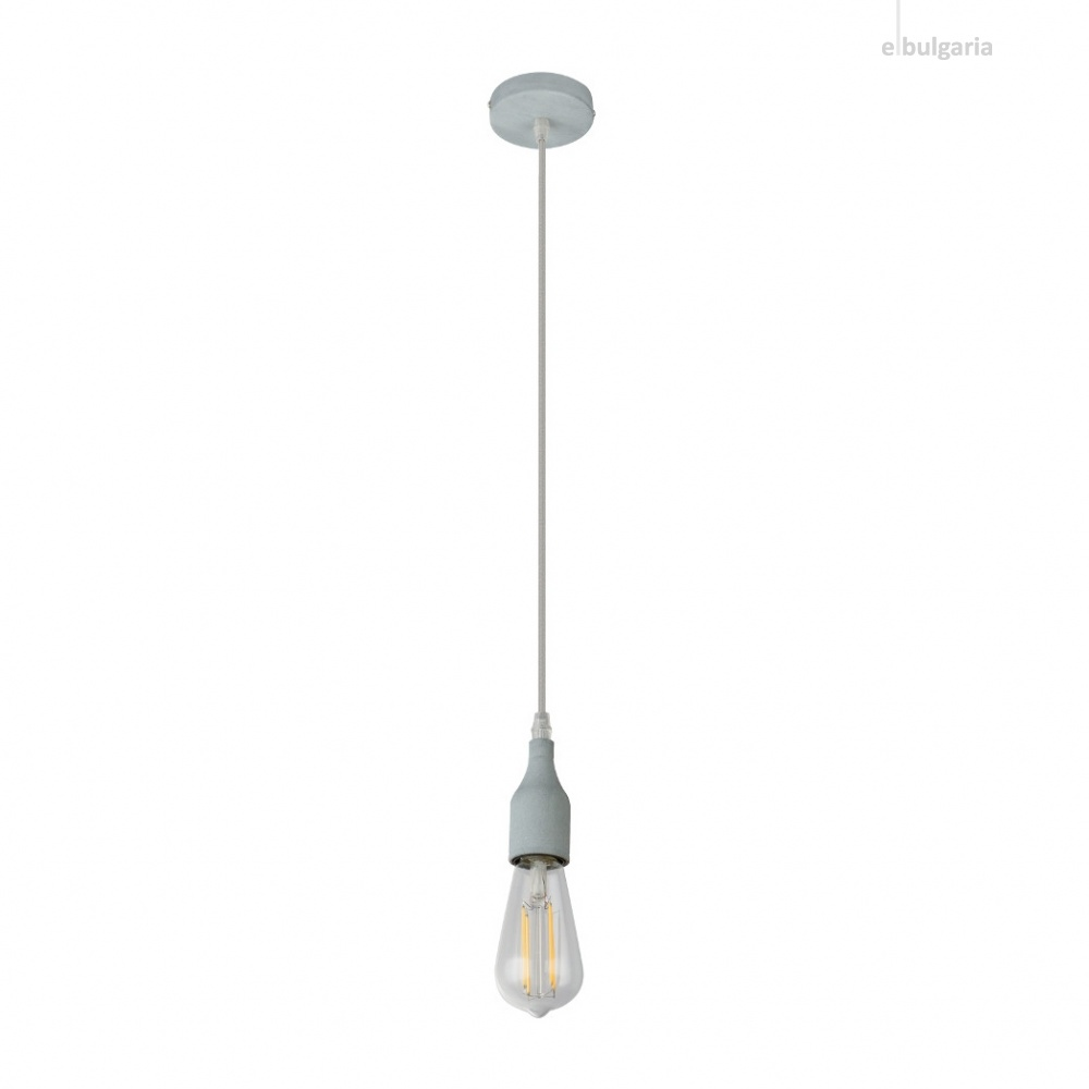 метален пендел, concrete/anthracite, globo, oliver, 1x60w, a23