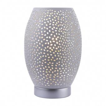 метална настолна лампа, white, globo, narri, 1x40w, 24002w
