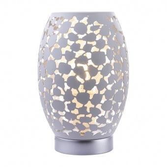 метална настолна лампа, white, globo, hanny, 1x40w, 24003w